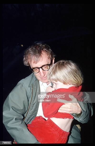 Director Woody Allen takes his son Satchel home April 13 1993 in New York City Allen's exgirlfriend Mia Farrow is filing for custody of their natural...
