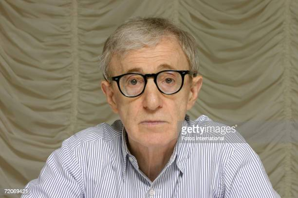 Director Woody Allen talks at the Mark Hotel on June 15, 2006 in New York, New York.