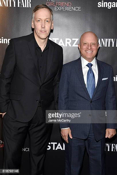 Director writer and executive producer Lodge Kerrigan and STARZ CEO Chris Albrecht attend the New York premiere of 'The Girlfriend Experience' at The...