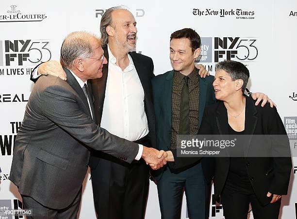 Director writer and producer Robert Zemeckis writer Kent Jones actor Joseph GordonLevitt and Executive Director at Film Society of Lincoln Center...