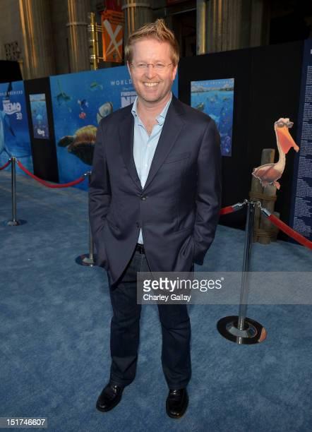 Director/ Writer Andrew Stanton arrives at the premiere of Disney Pixar's Finding Nemo Disney Digital 3D at the El Capitan Theatre on September 10...