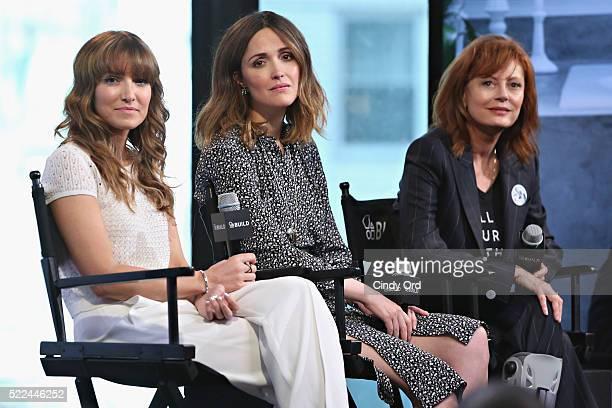 Director/ writer Lorene Scafaria, actress Rose Byrne and actress Susan Sarandon discuss their comedy-drama film 'The Meddler' during AOL Build...