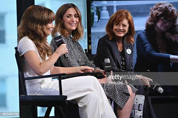 "Director/ writer Lorene Scafaria, actress Rose Byrne and actress Susan Sarandon discuss their comedy-drama film ""The Meddler"" during AOL Build..."