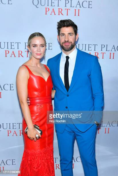 Director writer producer John Krasinski and Emily Blunt attend the World Premiere of A Quiet Place Part II presented by Paramount Pictures at the...