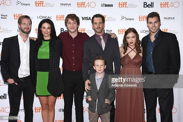 Director/ Writer Stephen Dunn with Actors Joanne Kelly Connor Jessup Aaron Abrams Jack Fulton Sofia Banzhaf and James Hawksley attend the Closet...