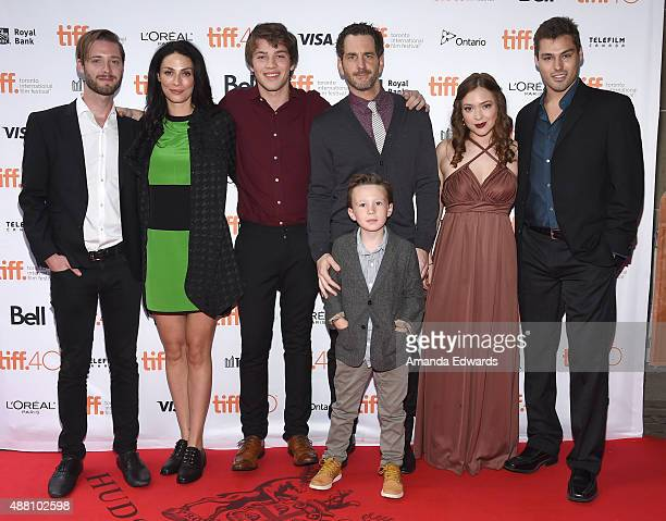Director/ Writer Stephen Dunn with Actors Joanne Kelly Connor Jessup Aaron Abrams Jack Fulton Sofia Banzhaf and James Hawksley attend the 'Closet...