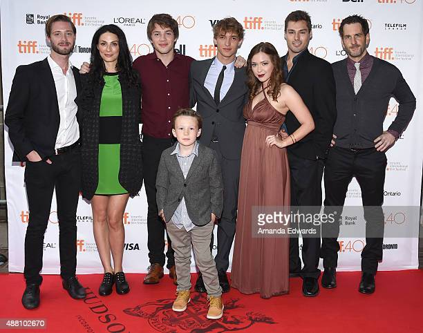 Director/ Writer Stephen Dunn with Actors Joanne Kelly Connor Jessup Jack Fulton Aliocha Schneider Sofia Banzhaf James Hawksley and Aaron Abrams...