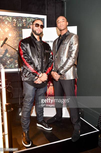 Director X and SHAFT actor Jessie T Usher attend the SHAFT Toronto tastemakers launch reception held Bisha Hotel on June 4 2019 in Toronto Canada