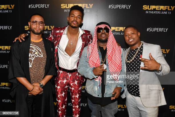 Director X Trevor Jackson Big Boi and Jason Mitchell attend Columbia Pictures Superfly Atlanta special screening on June 7 2018 at SCADShow in...
