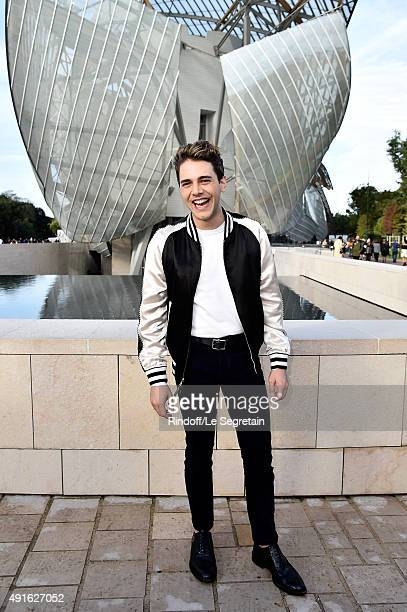 Director Xavier Dolan attends the Louis Vuitton show as part of the Paris Fashion Week Womenswear Spring/Summer 2016 on October 7 2015 in Paris France