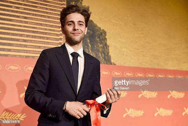 "Director Xavier Dolan who won The Grand Prix for the movie ""Just the end of the world"" attends the Palme D'Or Winner Press Conference during the 69th..."