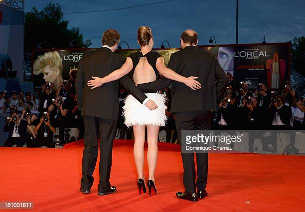 Director Xavier Giannoli actress Cecile De France and actor Kad Merad attend Superstar Premiere during The 69th Venice Film Festival at the Palazzo...
