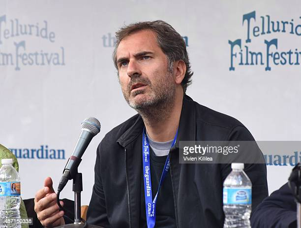 Director Xavier Giannoli speaks during a seminar in Elks Park at the 2015 Telluride Film Festival on September 6 2015 in Telluride Colorado
