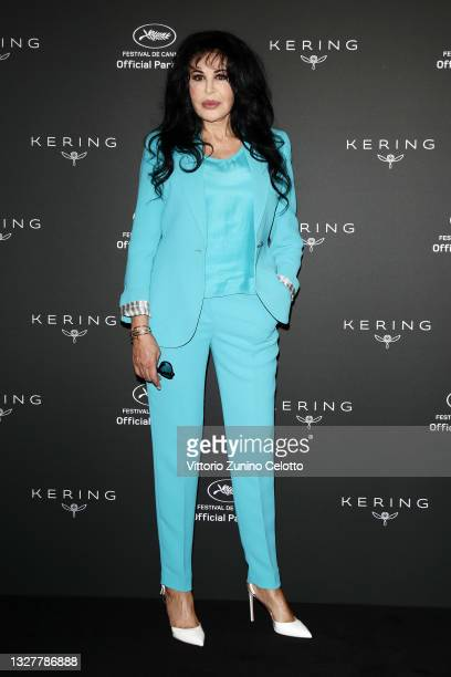 Director Yamina Benguigui attends Kering Talks Women In Motion photocall on July 09, 2021 in Cannes, France.