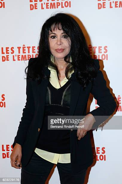 Director Yamina Benguigui attends 'Les Tetes de l''Emploi' Paris Premiere at Cinema Gaumont Opera Capucines on November 14 2016 in Paris France