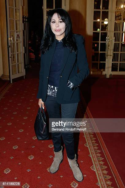 Director Yamina Benguigui attends the 'A Droite A Gauche' Theater Play at Theatre des Varietes on October 12 2016 in Paris France