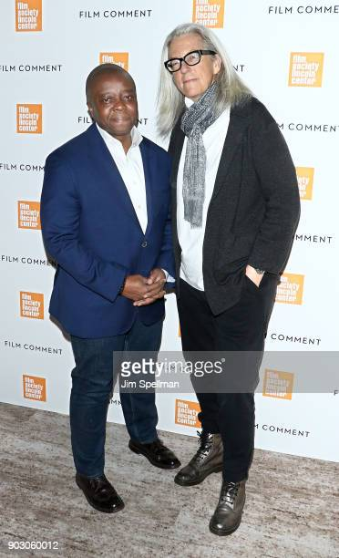 Director Yance Ford and producer Joslyn Barnes attend the 2018 Film Society of Lincoln Center and Film Comment luncheon at Lincoln Ristorante on...