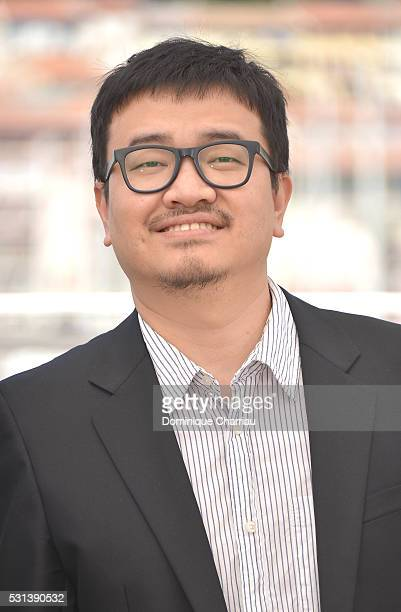 """Director Yeon Sang-ho attends the """"Train To Busan """" photocall during the 69th Annual Cannes Film Festival on May 14, 2016 in Cannes, France."""