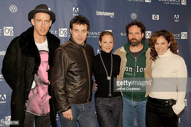 Director Yohan Renck actors Rufus Sewell Maria Bello Jason Patrick and Amy Brenneman attend a screening of 'Downloading Nancyl' at the Racquet Club...