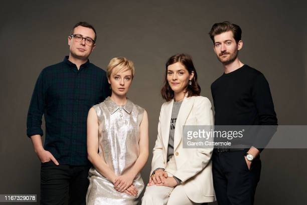 Director Yonah Lewis, actors Kacey Rohl and Amber Anderson, and director Calvin Thomas from the film 'White Lie' pose for a portrait during the 2019...