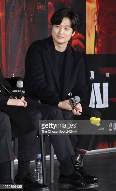 Director Yoon SungHyun attends the press conference for film 'Time to Hunt' at Lotte Cinema on January 31 2020 in Seoul South Korea