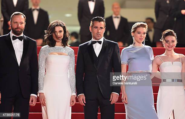 Director Yorgos Lanthimos actors Rachel Weisz Colin Farrell Léa Seydoux and Jessica Barden attend the Lobster Premiere during the 68th annual Cannes...