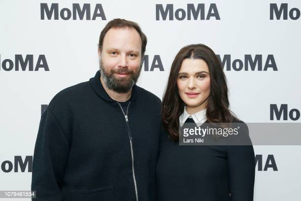 Director Yorgos Lanthimos and actor Rachel Weisz attend MoMA's Contenders screening of The Favourite at MoMA Titus One on January 8 2019 in New York...