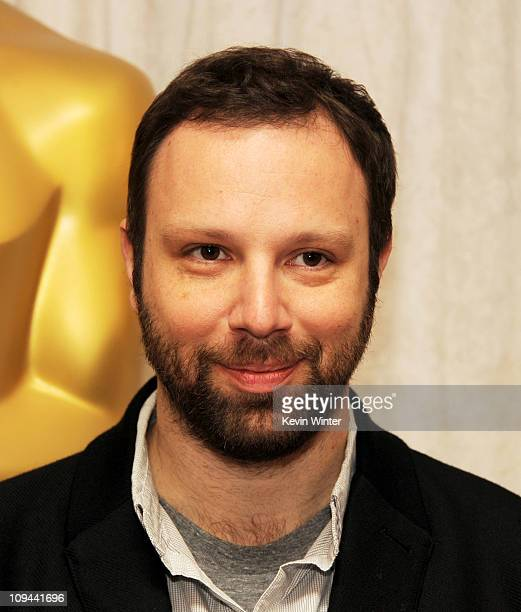 Director Yorgos Lanthimos appears at a press conference and photo op for the five nominated directors in the Foreign Language Film Award catagory for...