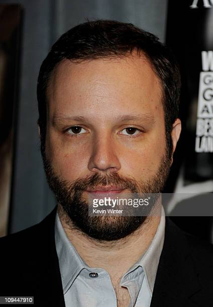 Director Yorgos Lanthimos arrives at a reception to honor the Foreign Language Film Award directors at the Academy of Motion Pictures Arts and...