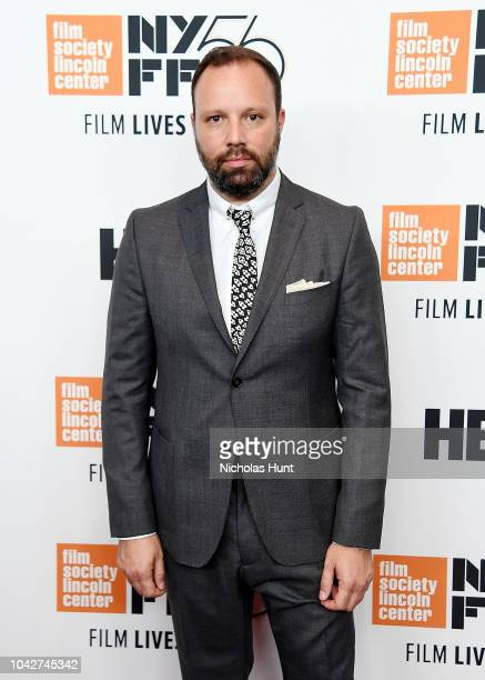 Director Yorgos Lanthimos attend the 56th New York Film Festival Opening Night Premiere Of The Favourite at Alice Tully Hall Lincoln Center on...