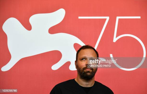 Director Yorgos Lanthimos attends a photocall for the film The Favourite presented in competition on August 30 2018 during the 75th Venice Film...