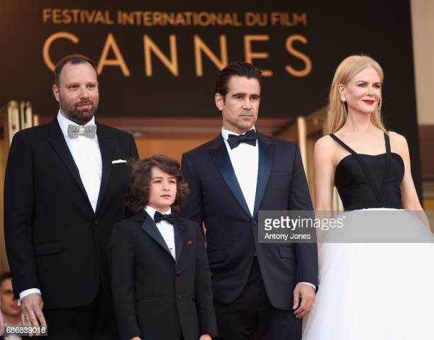 Director Yorgos Lanthimos Sunny Suljic Colin Farrell and Nicole Kidman attend the The Killing Of A Sacred Deer screening during the 70th annual...