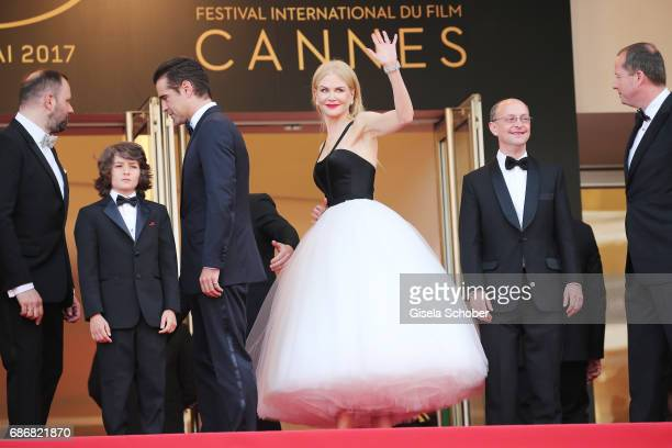 Director Yorgos Lanthimos Sunny Suljic Colin Farrell Nicole Kidman and producers Ed Guiney and Andrew Lowe attend The Killing Of A Sacred Deer...