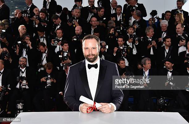 Director Yorgos Lanthimos winner of the Jury Prize for his film 'The Lobster' attends a photocall for the winners of the Palm D'Or during the 68th...