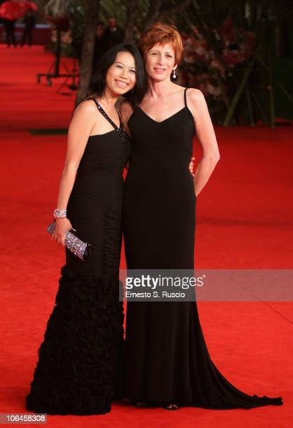 Director Yu Hsiu Camille Chen and actress Nicola Bartlett attend the Little Sparrows premiere during the 5th International Rome Film Festival at...