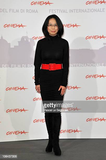 Director Yu Hsiu Camille Chen poses at the Little Sparrows photocall during The 5th International Rome Film Festival at Auditorium Parco Della Musica...