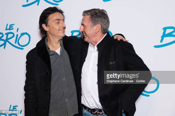 Director Yvan Attal and actor Daniel Auteuil attend the 'Le Brio' Paris Premiere at Cinema Gaumont Capucine on November 21 2017 in Paris France