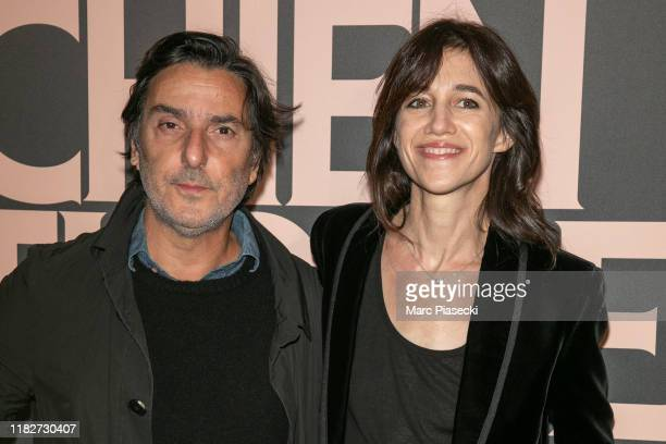 Director Yvan Attal and actress Charlotte Gainsbourg attend the Mon Chien Stupide premiere at UGC Normandie on October 22 2019 in Paris France