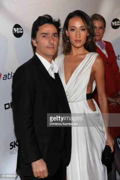 Director Yvan Attal and actress Maggie Q attend the premiere of New York I Love You at the Ziegfeld Theatre on October 14 2009 in New York City