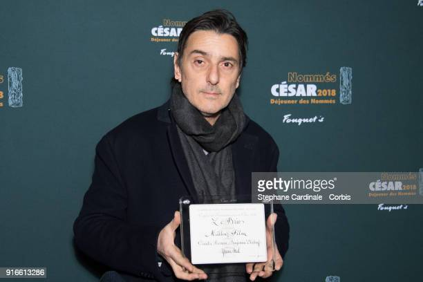 Director Yvan Attal attends the Cesar 2018 Nominee Luncheon at Le Fouquet's on February 10 2018 in Paris France