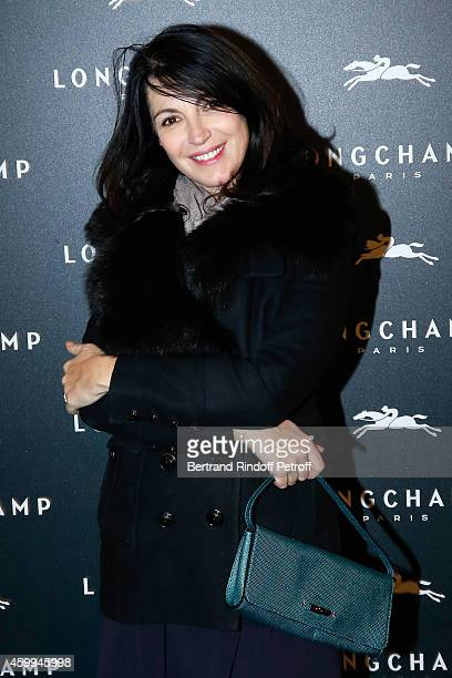 Director Zabou Breitman attends the Longchamp Elysees 'Lights On Party' Boutique Launch on December 4 2014 in Paris France