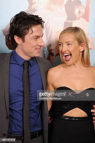 """Director Zach Braff and actress Kate Hudson attend the """"Wish I Was Here"""" screening at AMC Lincoln Square Theater on July 14, 2014 in New York City."""