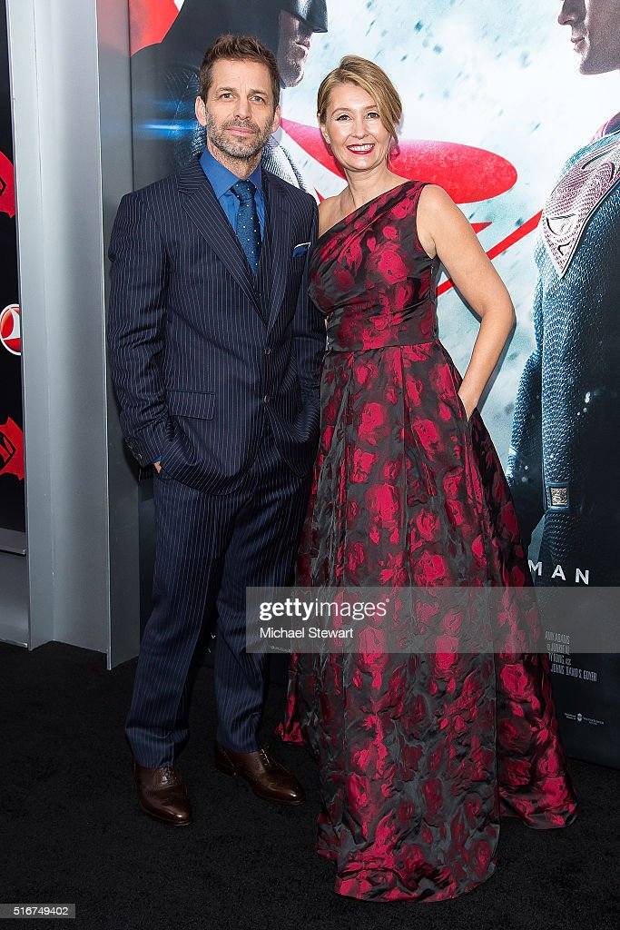 Director Zach Snyder (L) and Deborah Snyder attend the 'Batman V Superman: Dawn Of Justice' New York premiere at Radio City Music Hall on March 20, 2016 in New York City.