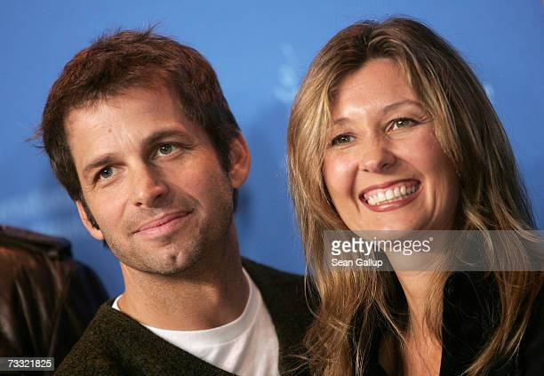 Director Zack Snyder and Executive Producer Deborah Snyder attend a photocall to promote the movie '300' during the 57th Berlin International Film...