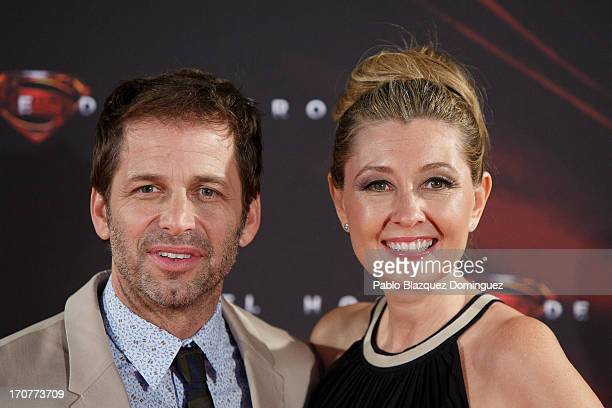 Director Zack Snyder and his wife producer Deborah Snyder attend the 'Man of Steel' premiere at the Capitol cinema on June 17 2013 in Madrid Spain