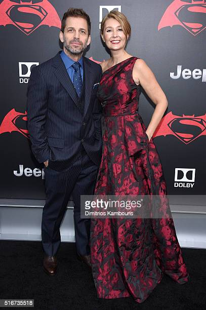 Director Zack Snyder and producer Deborah Snyder attend the 'Batman V Superman Dawn Of Justice' New York Premiere at Radio City Music Hall on March...