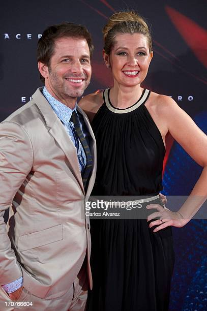 Director Zack Snyder and wife producer Deborah Snyder attend the 'Man of Steel' premiere at the Capitol cinema on June 17 2013 in Madrid Spain