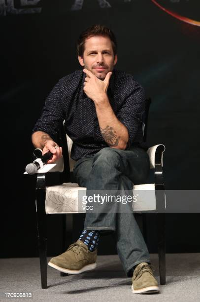 Director Zack Snyder attends 'Man of Steel' press conference during the 16th Shanghai International Film Festival at Peninsula Hotel on June 20 2013...
