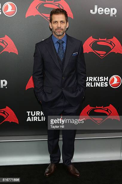 Director Zack Snyder attends the 'Batman v Superman Dawn of Justice' premiere at Radio City Music Hall on March 20 2016 in New York City