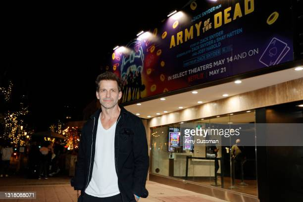 """Director Zack Snyder attends the grand reopening of the newly renovated Landmark Theatre Westwood with the premiere screening of Zack Snyder's """"Army..."""